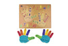 Hand and Number Wooden Shaped Puzzle