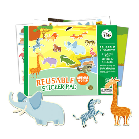 Reusable Animal World Sticker Pad Set