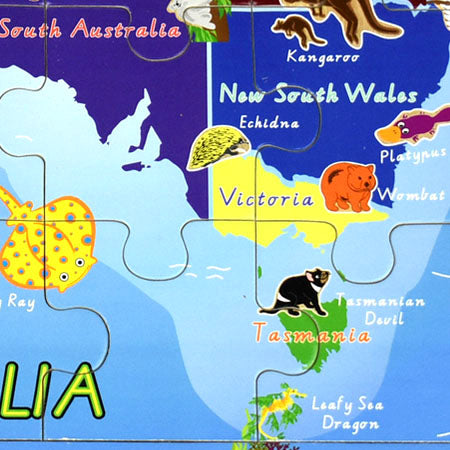 2 in 1 Australian Map Wood Jigsaw Puzzle