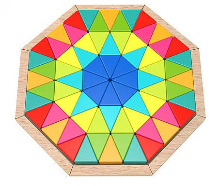 Octagon Wooden Shaped 72 Piece Puzzle