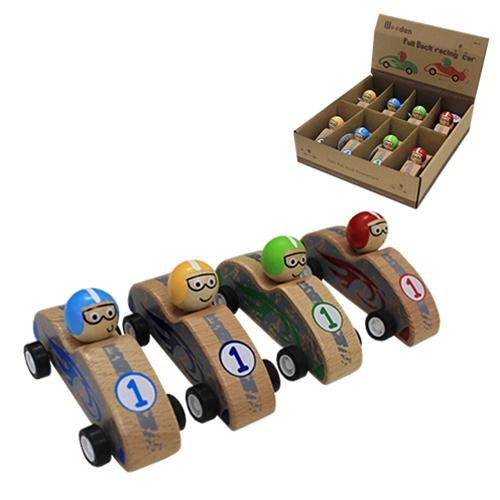 Wooden Pull Back Race Car