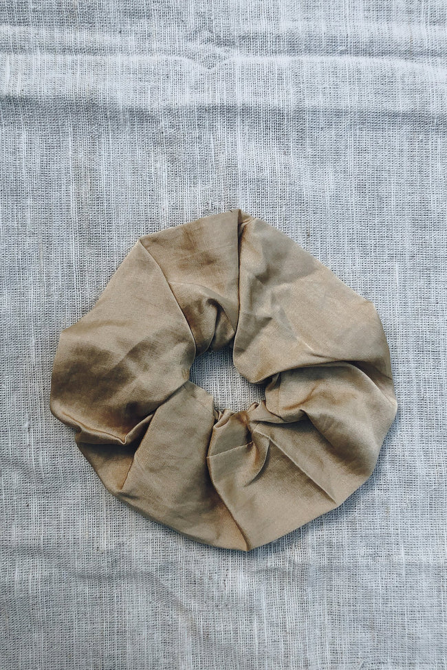 Sustainable Silk Sand Scrunchie Large