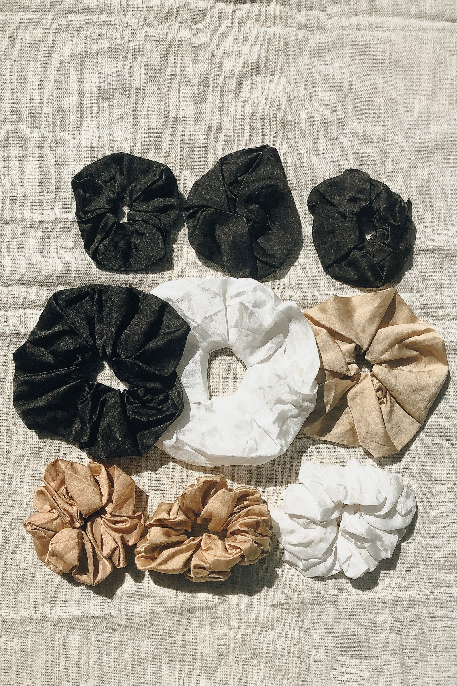Sustainable Silk Ebony Scrunchie