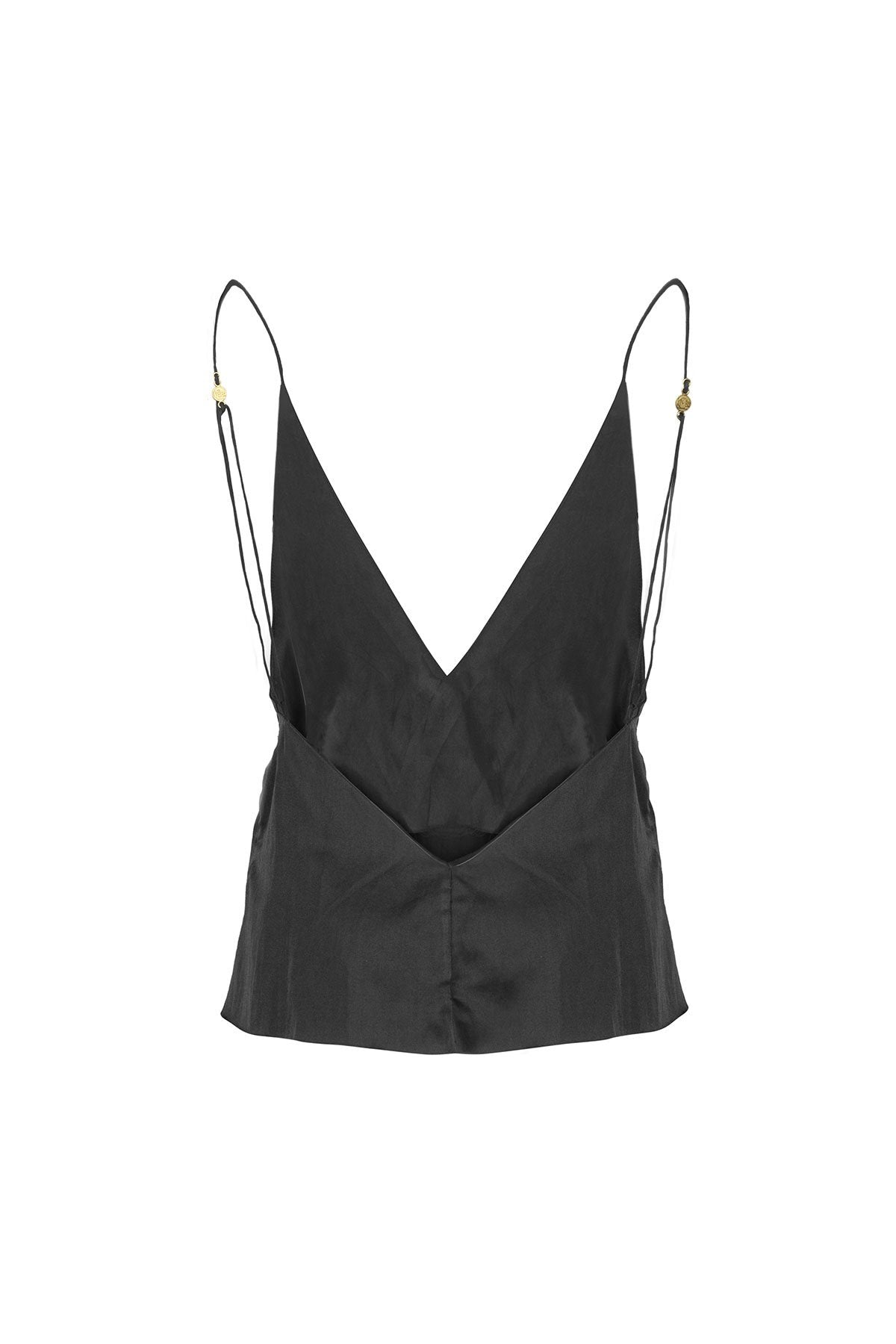 The Klimt Cami Top - Ebony