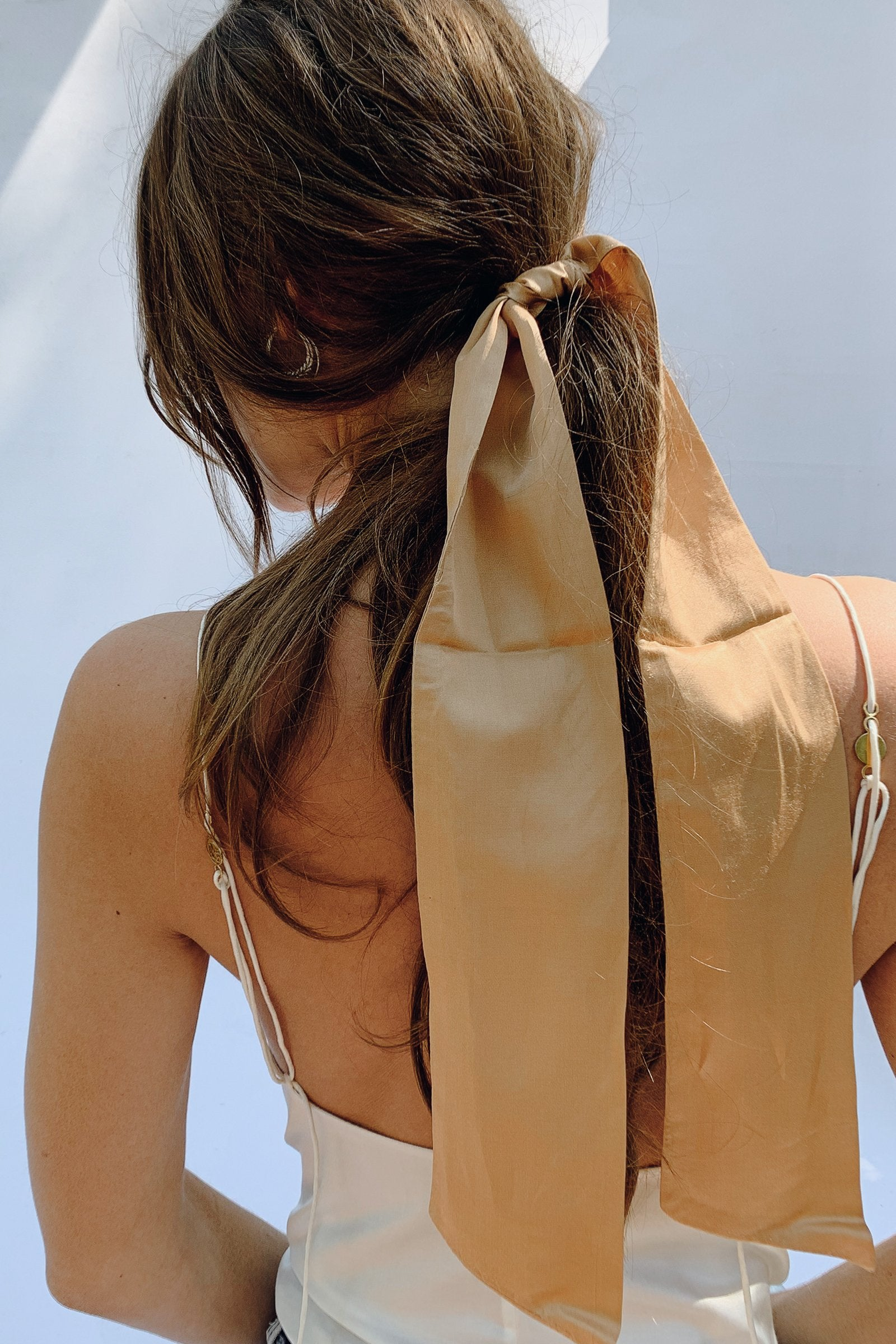 Sustainable Silk Sand Hair Ribbon