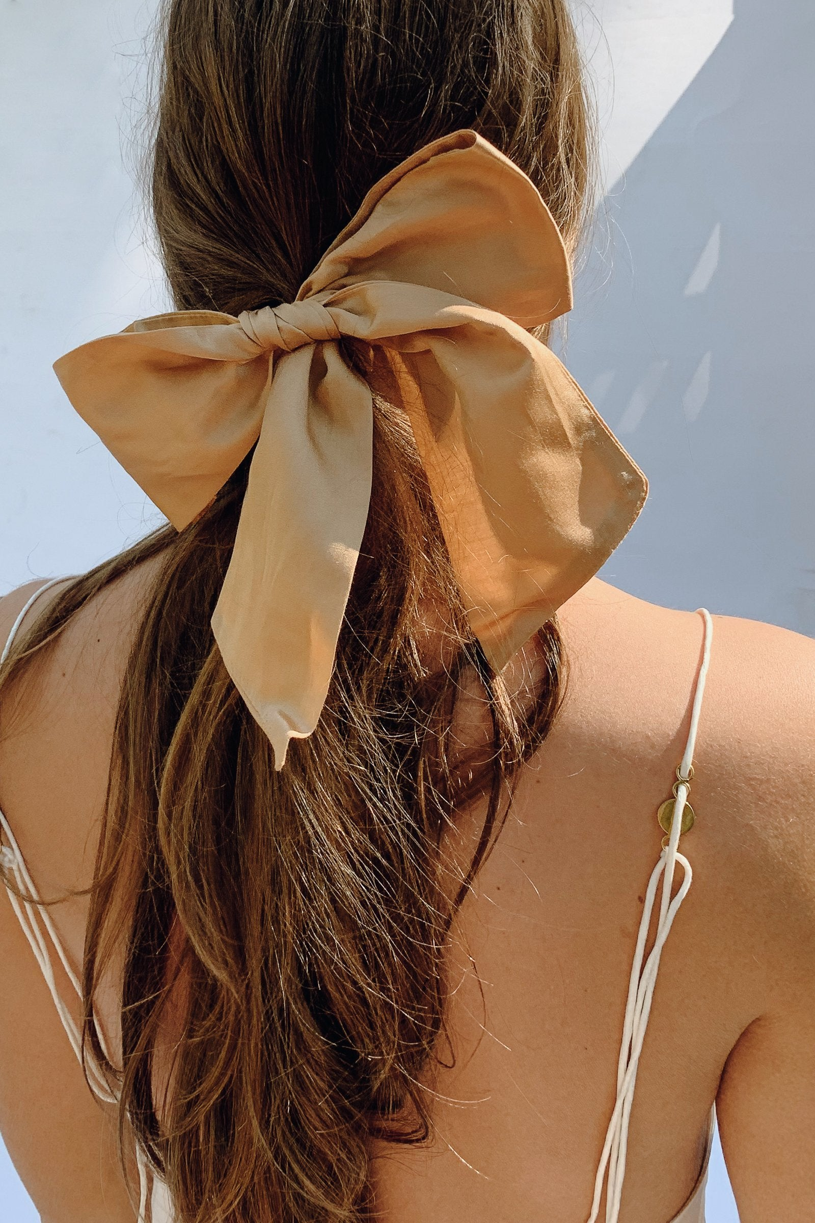 Sustainable Silk Sand Hair Bow