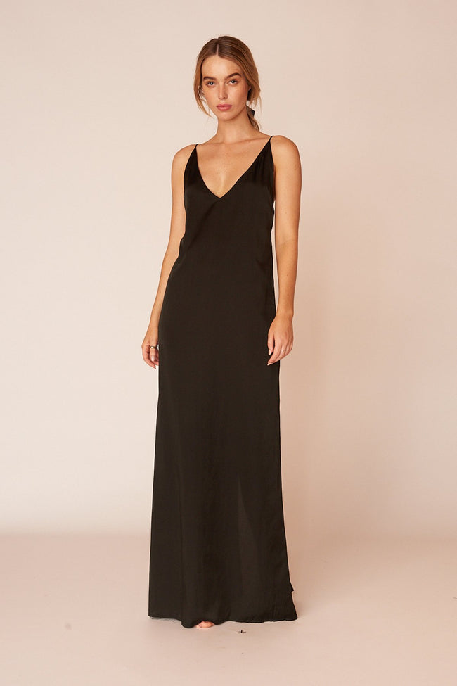 The Klimt Full Length Dress - Ebony
