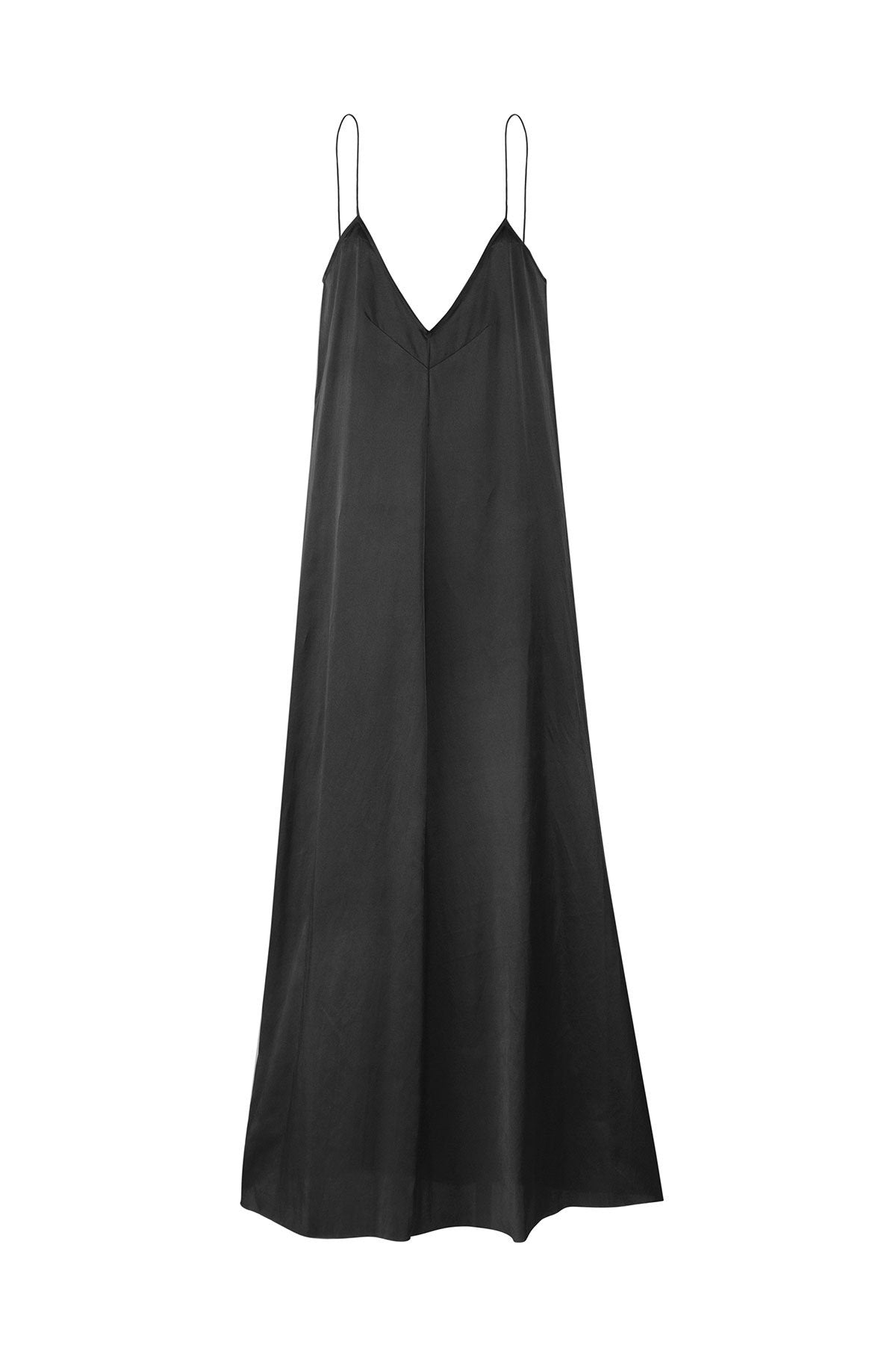 The Pablo Full Length Dress - Ebony