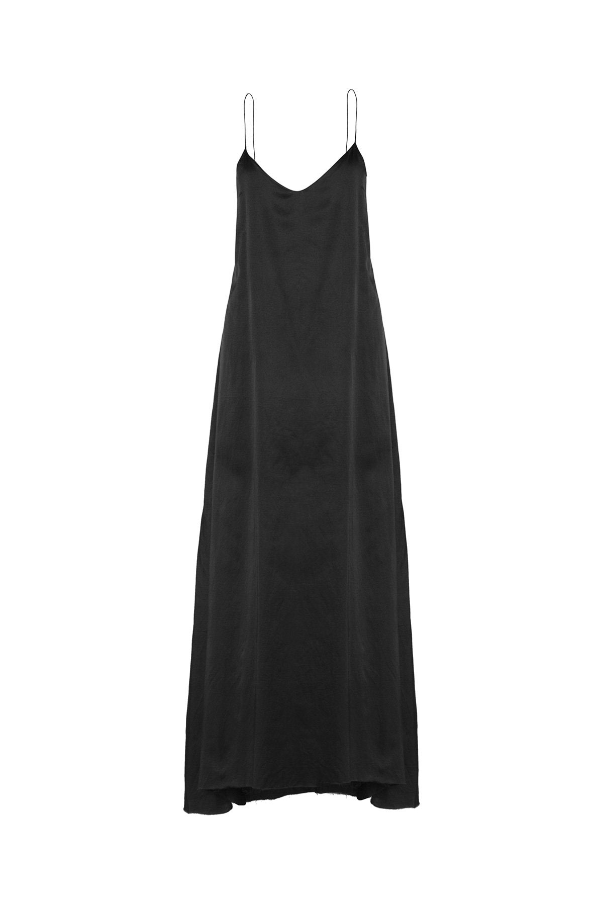 The Kahlo Full Length Dress - Ebony