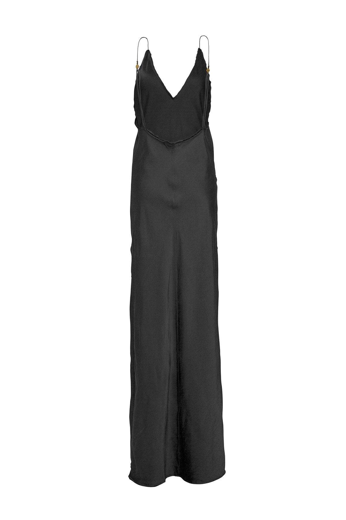 Sustainable Black Silk Maxi Dress