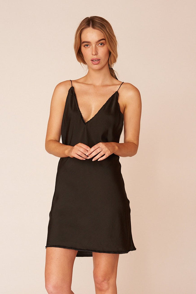 The O'Keeffe Mini Dress - Ebony