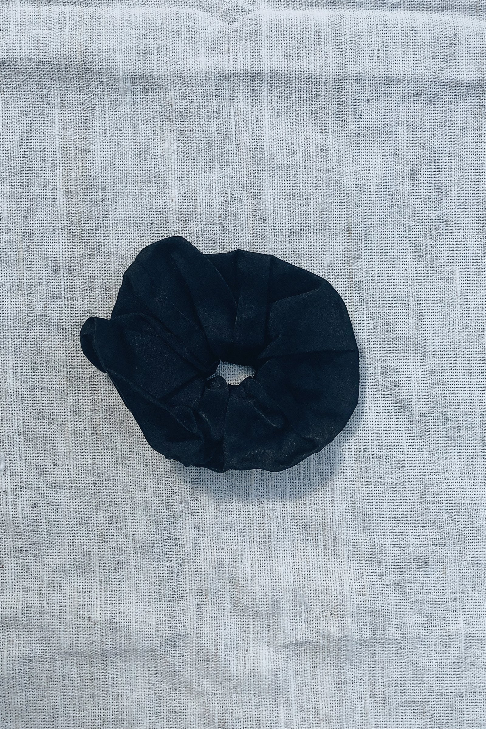 Sustainable Silk Ebony Scrunchie Small