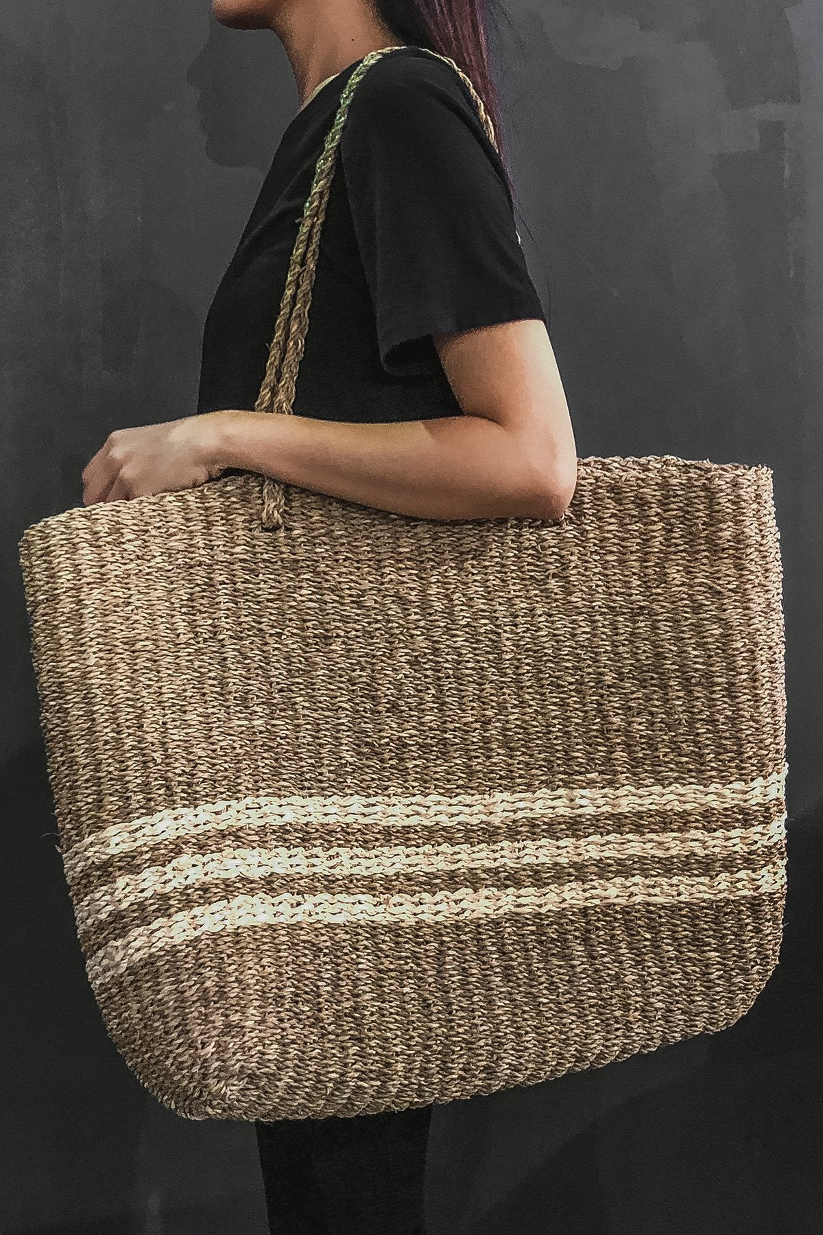 Extra Large 100% Woven Seagrass Bag - Natural Colour
