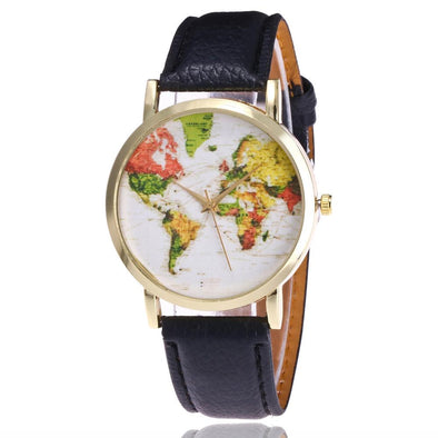 Quartz Vogue WorldMap Watch