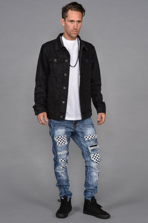 Sahara Black Denim Jacket - SeeThru™