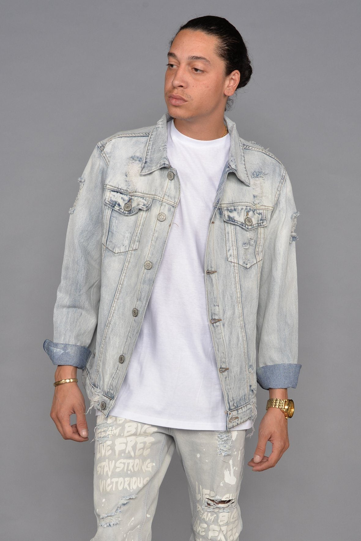 Senna Distressed Denim Jacket - SeeThru™