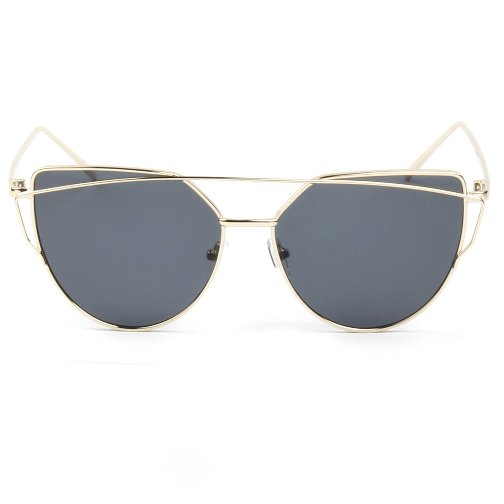 """Gold Garfield"" Sunglasses with Iron Bar 2019 Collection - SeeThru™"