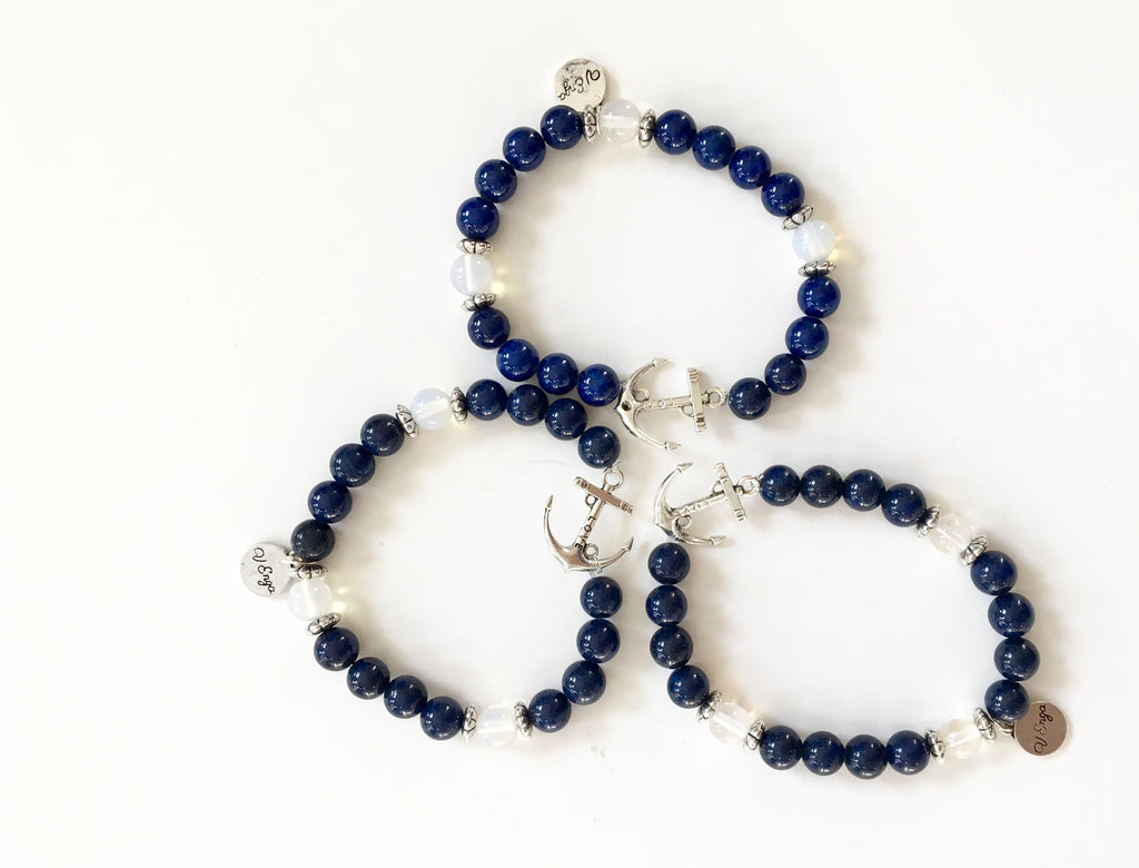 Mountain Jade Anchor Bracelet for Wisdom & Health - SeeThru™