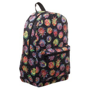 Rick and Morty Cosmic Psychedelic Expressions Sublimated Backpack - SeeThru™