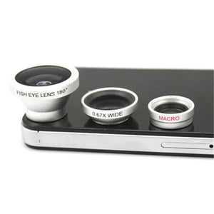 3-Piece Camera Lens Attachment Set For iPhone or Android - SeeThru™