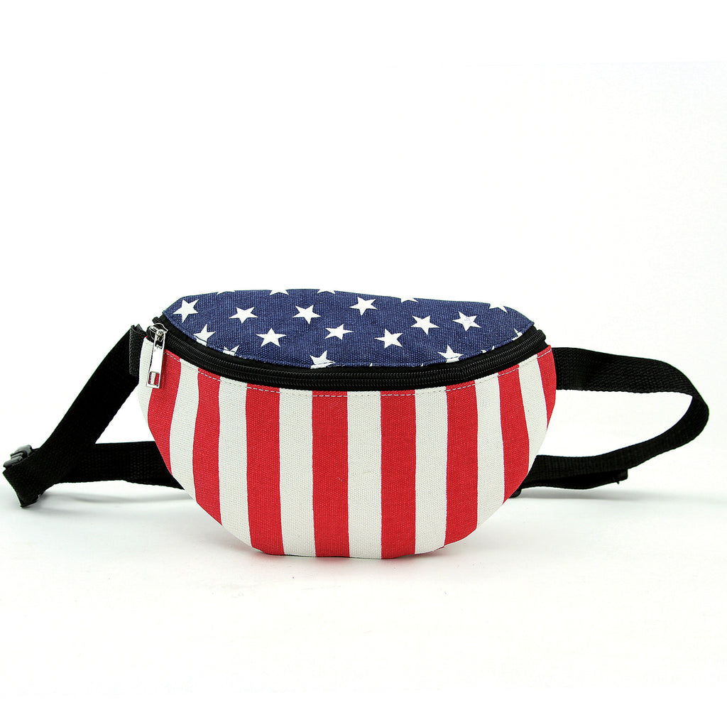 Stars and Stripes Fanny Pack in Canvas