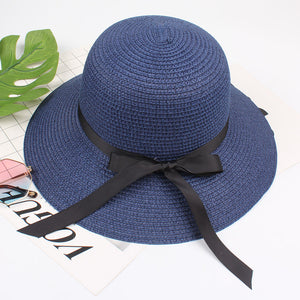 Straw Hat w/ Ribbon - SeeThru™