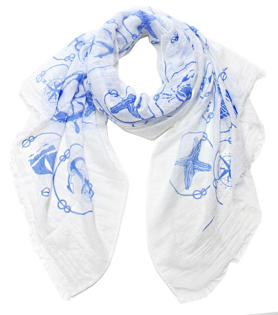 Lost at Sea Print Scarf