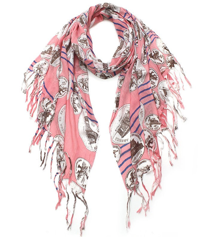 Loose Change Print Scarf