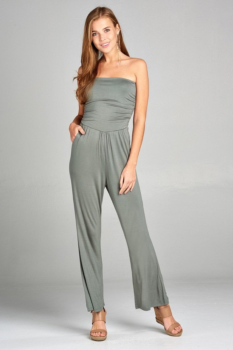 Tube Top Jumpsuit - Graphite 2019 Collection - SeeThru™