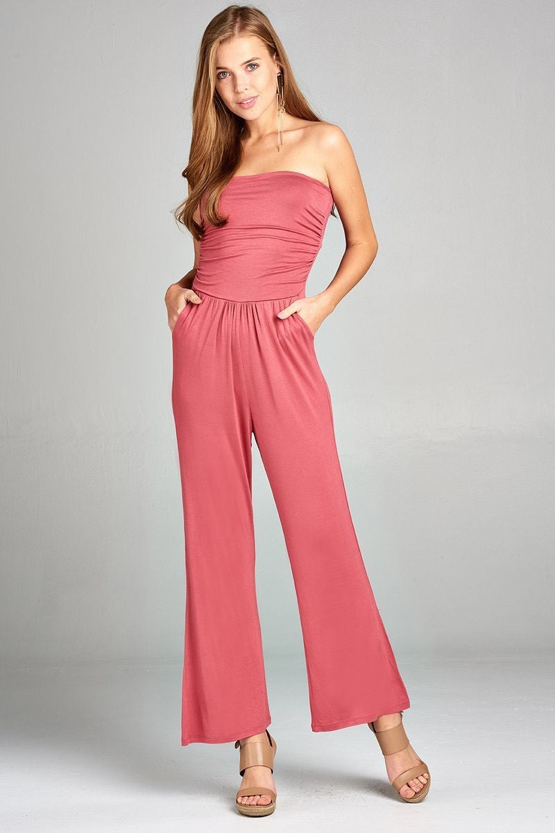 Tube Top Jumpsuit - Raspberry (Small Only) 2019 Collection - SeeThru™