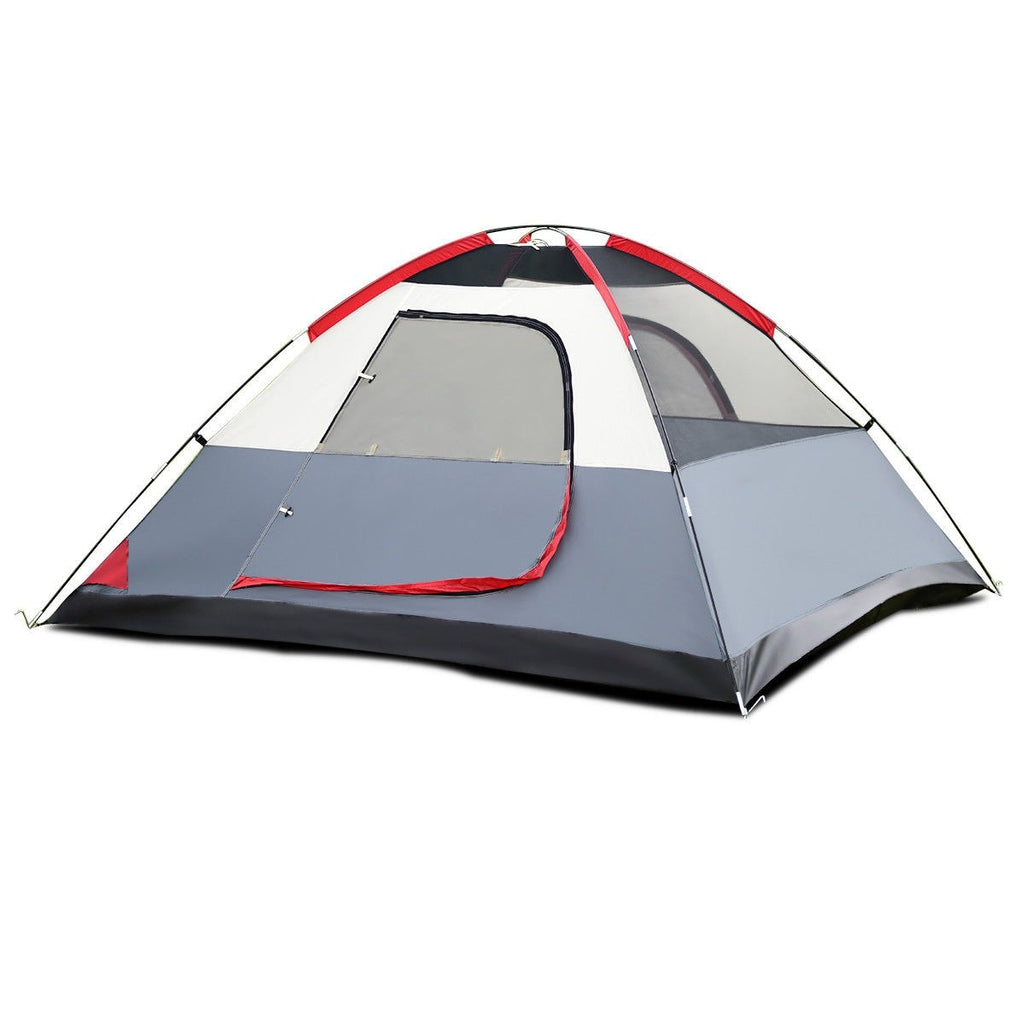 4-Person Waterproof Tent with Side Pockets - SeeThru™