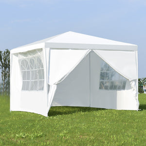 10' x 10' Outdoor Pop-Up Canopy with Walls - SeeThru™