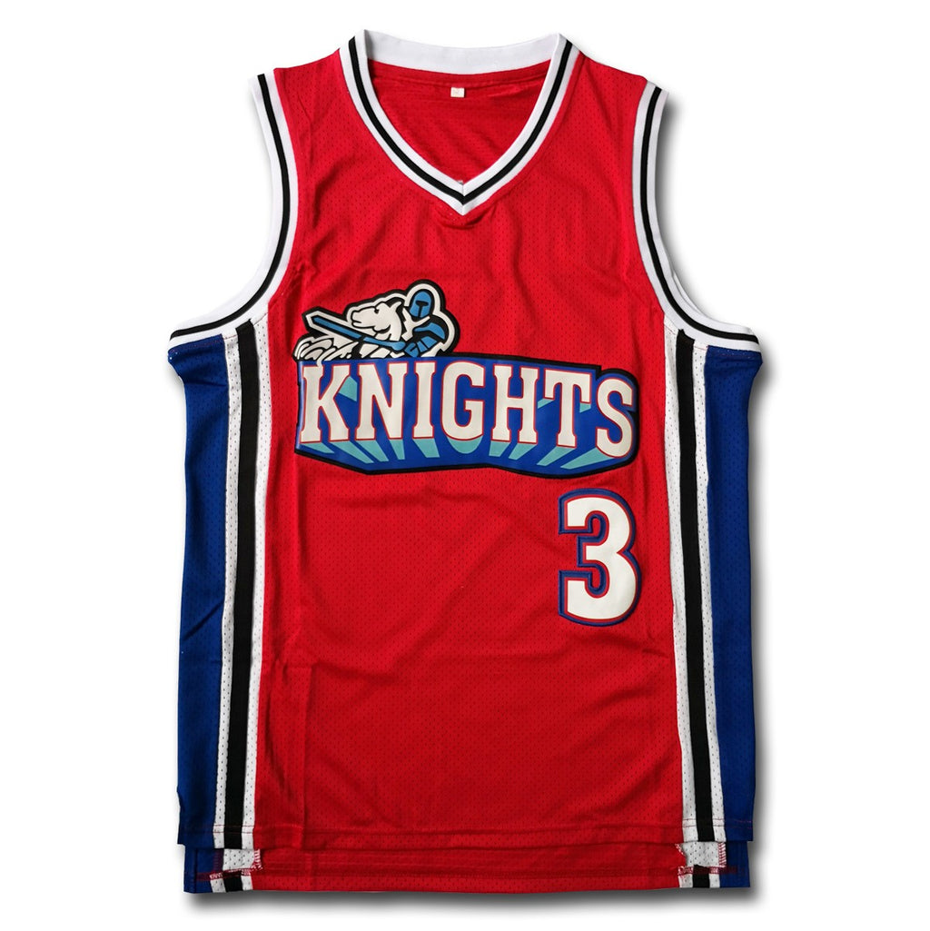 """Like Mike"" Cambridge #3 Knights Red Basketball Jersey - SeeThru™"