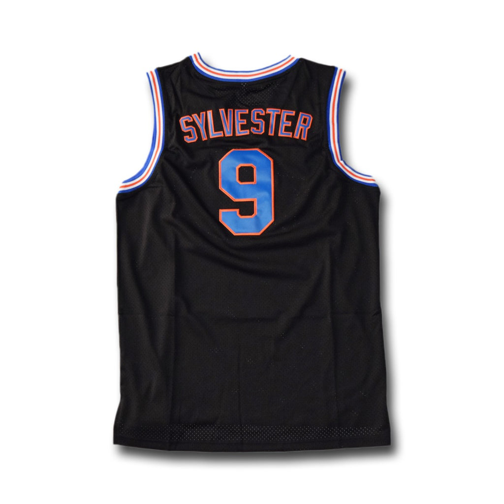 Sylvester #9 Tune Squad Black Basketball Jersey - SeeThru™