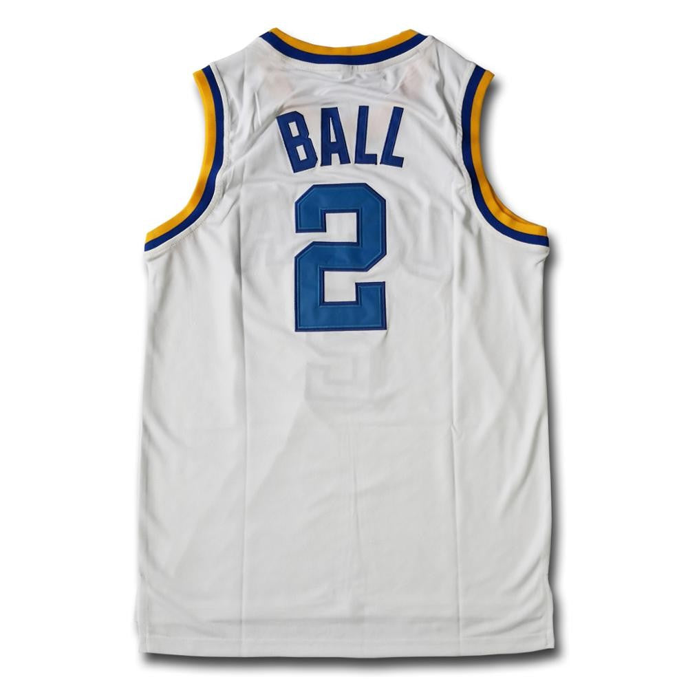 Lonzo Ball #2 College White Basketball Jersey - SeeThru™