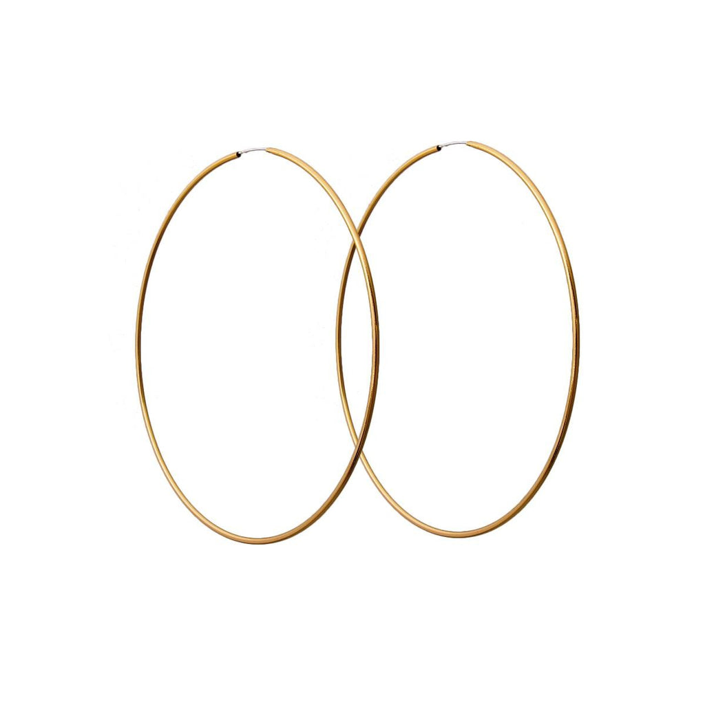 Endless Hoop Earrings in Gold - SeeThru™