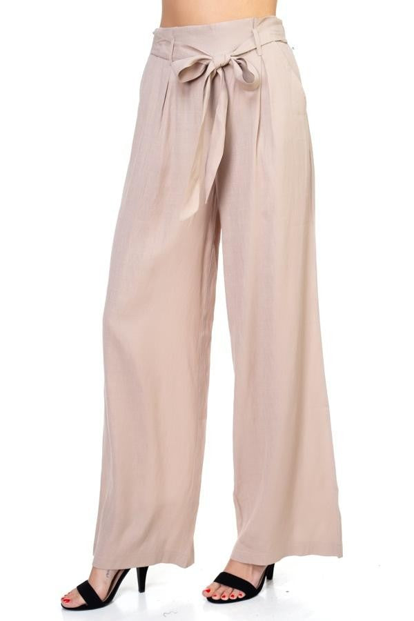 Belted Wide Leg Pants 2019 Collection - SeeThru™