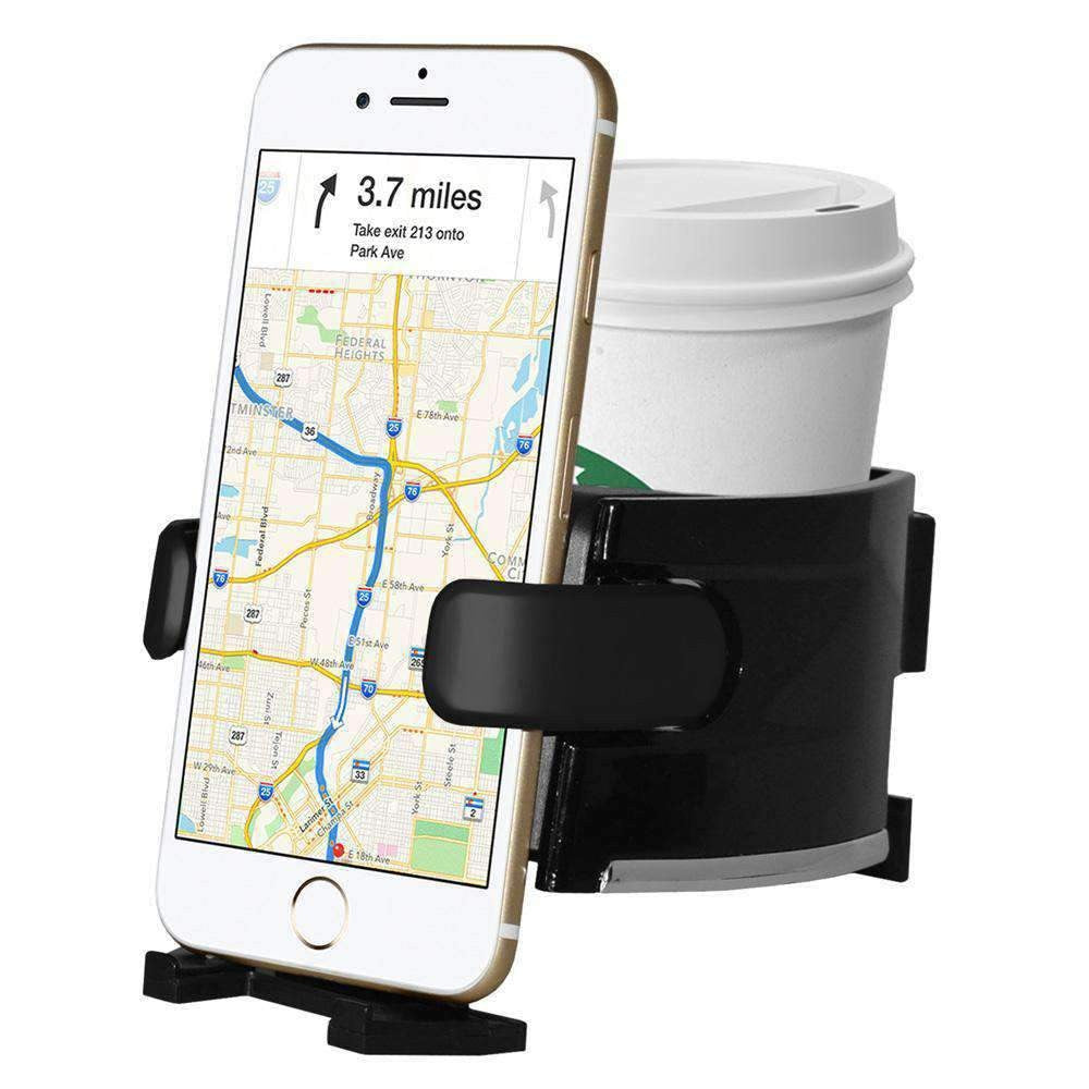 Universal Car Air Vent Phone Mount With Cup Holder