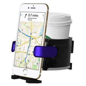 Universal Car Air Vent Phone Mount With Cup Holder - SeeThru™
