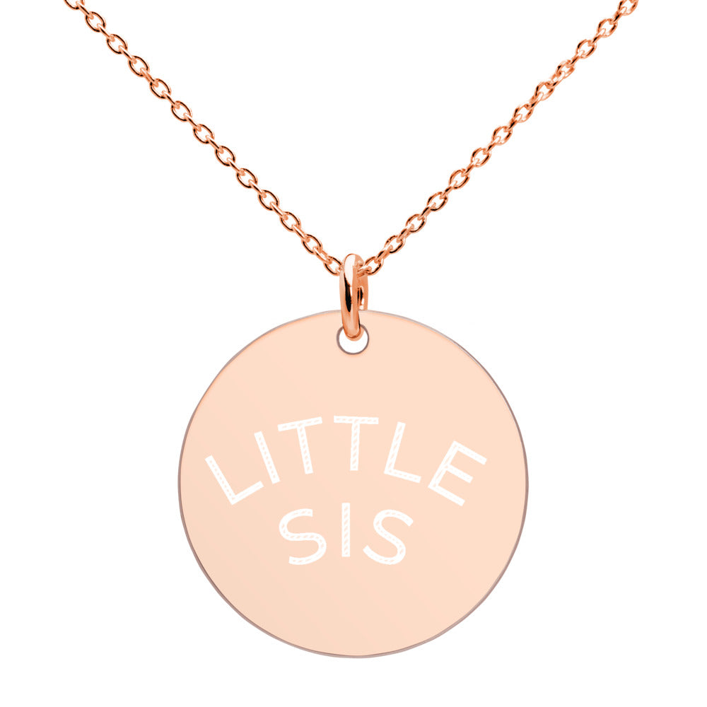 Engraved Silver Disc Necklace Little SIS - Seed Kids Clothing