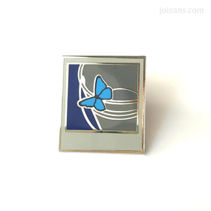 Polaroid Butterfly Hard Enamel Pin