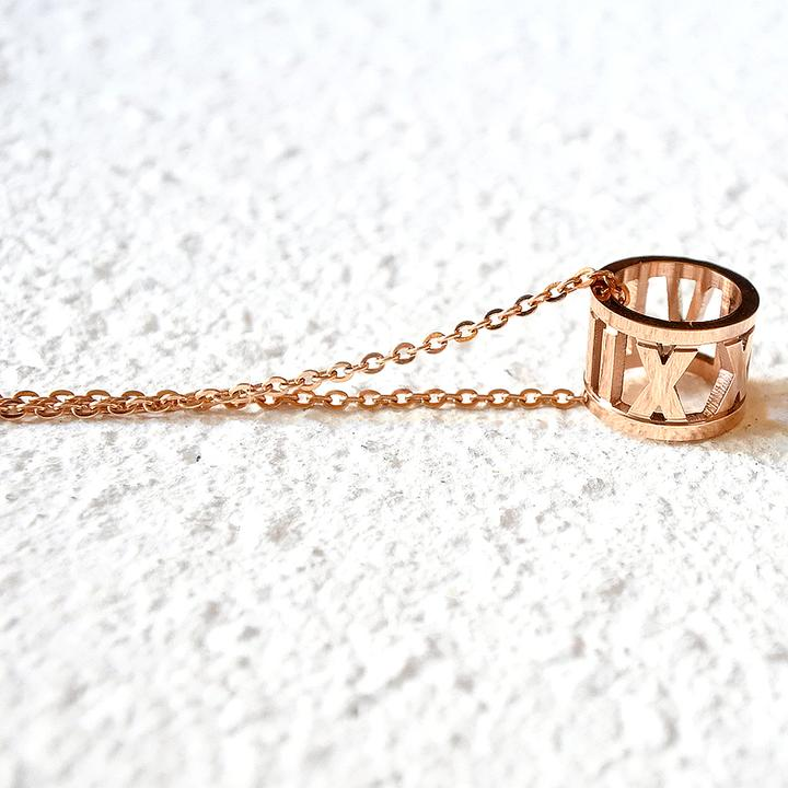 Roman Empress Necklace - Rose Gold