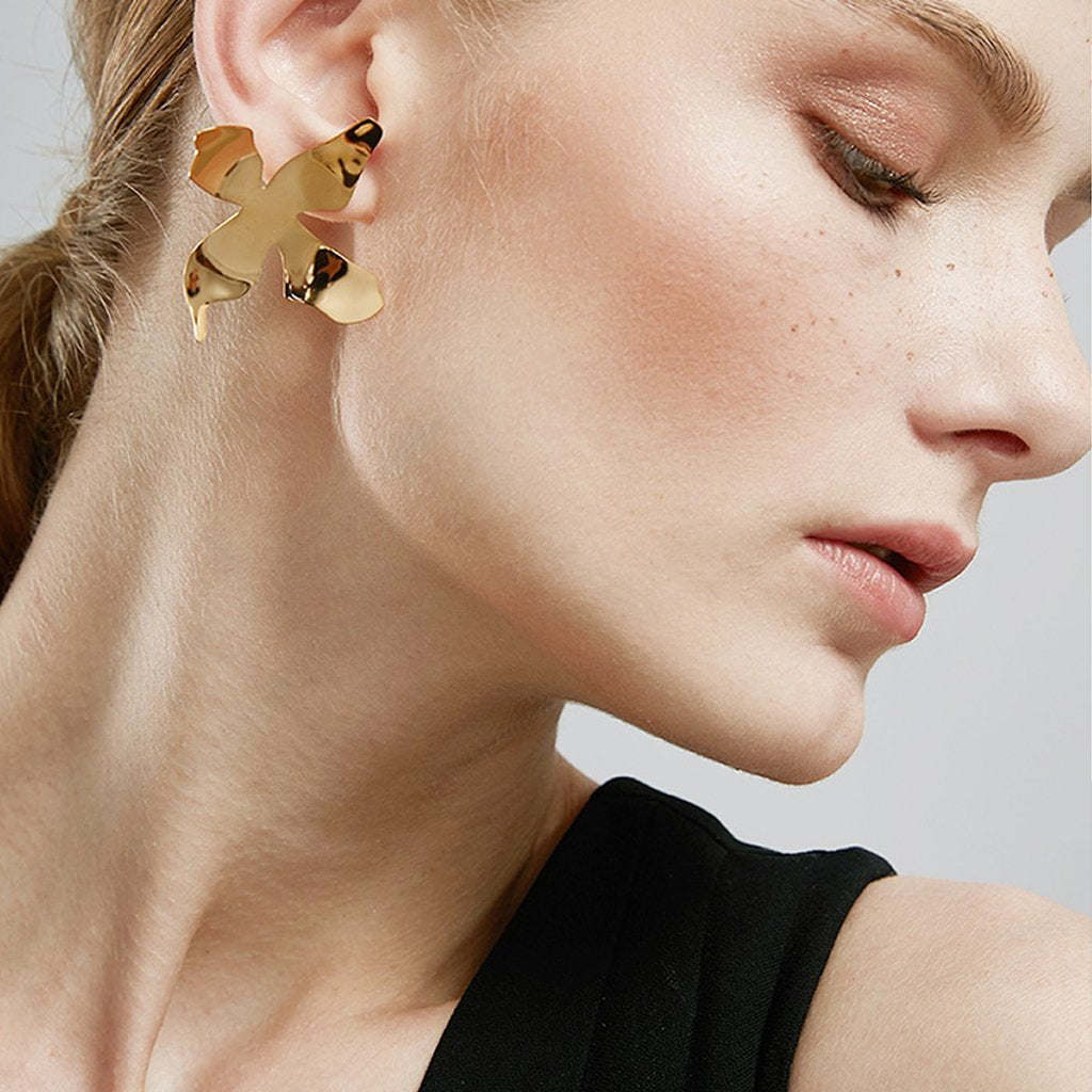 Modern Maiden Oversized Earrings - Gold