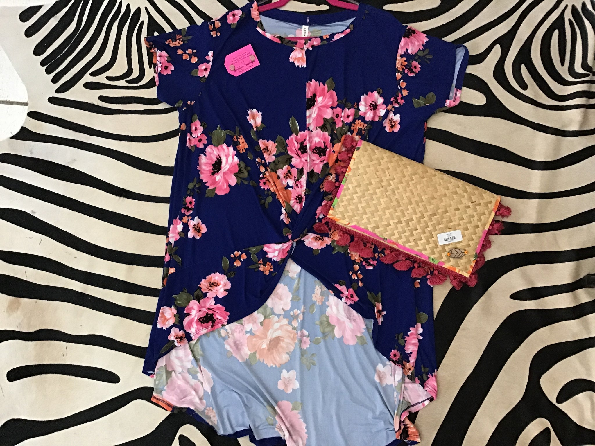High-Low Floral Blouse