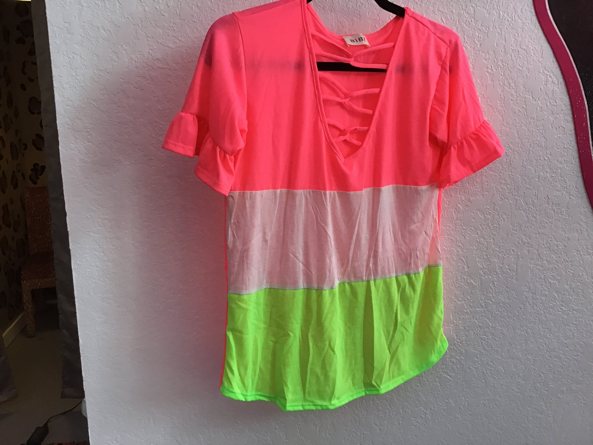 Neon Cross Top