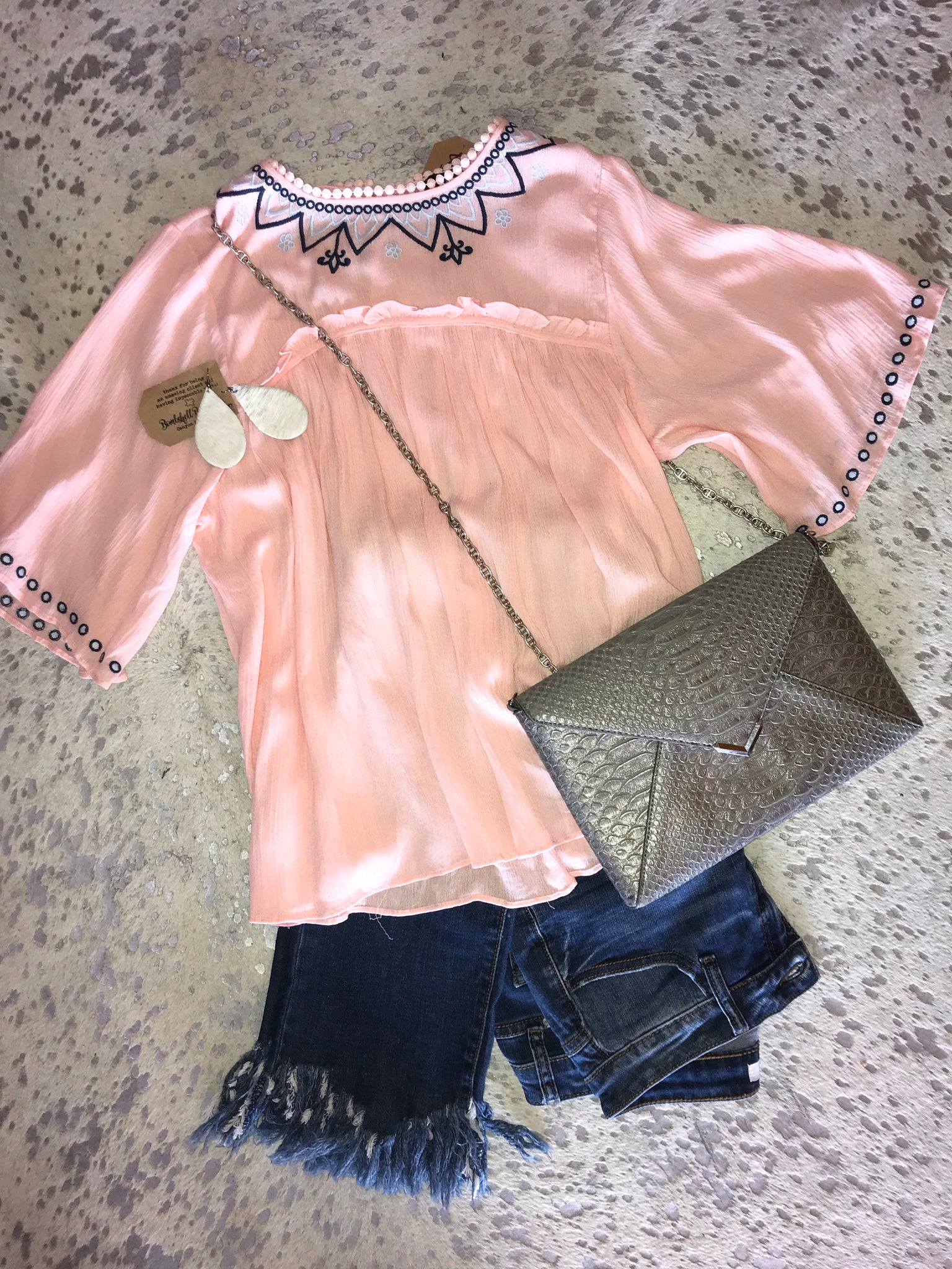 Peachy Babydoll Blouse(PLUS)
