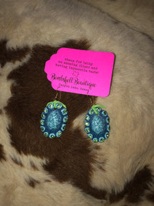 Turquoise & Lime Earrings