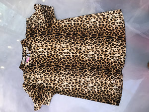 Cheetah Stretch Blouse