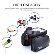 MEETLOCK Bike Front Frame Bag 5.7 Inch Phone Waterproof - bike tube, bike torch, bike light, bike pedals, bike grips, cycling sunglasses,bike pump