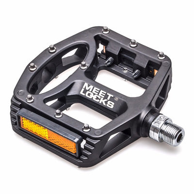 MEETLOCKS Bike Pedals Triple sealed MTB Road BMX Bike Pedal Big Size Foot,Magnesium Alloy,398g/Pair - bike tube, bike torch, bike light, bike pedals, bike grips, cycling sunglasses,bike pump